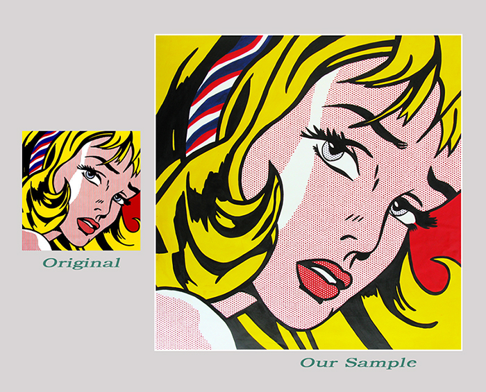 roy lichtenstein girl with hair ribbon Roy lichtenstein posters from the world's largest poster gallery will be sure to thrill you for years to  girl with hair ribbon, c1965 mounted print - 30 x 30 cm.